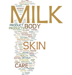 Milk it can do a body good text background word vector
