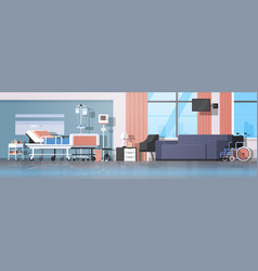 modern hospital room interior intensive therapy vector image