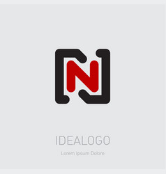 n and initial logo nn - design element or icon vector image