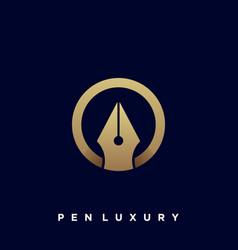 Pen luxury template vector