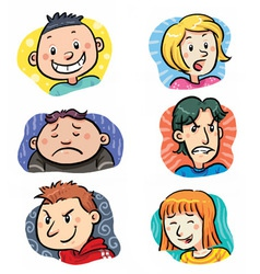 People expressions vector