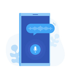 personal assistant and voice recognition vector image