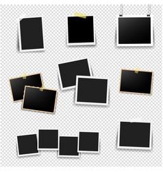 photo frame big set with transparent background vector image