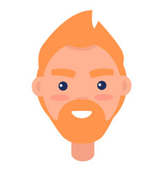 Redhead male character avatar userpic vector