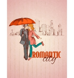 Romantic city poster vector
