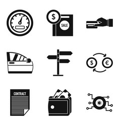 Sale of spare parts icons set simple style vector