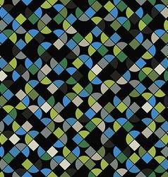 Seamless mosaic pattern design vector image