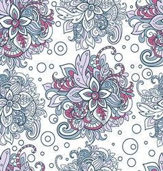 Seamless pattern in boho style Henna mehndi design vector