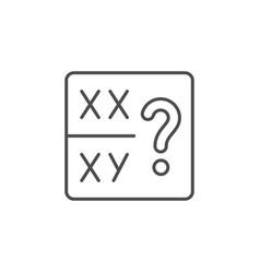 Sex determination line outline icon vector