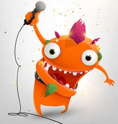 Smiling Alien with Microphone vector