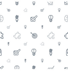 Solution icons pattern seamless white background vector