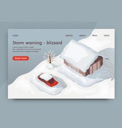 Storm warning blizzard 3d vector