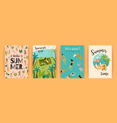 Templates with fun summer vector