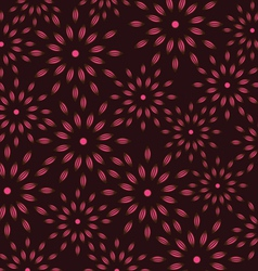 Texture with pink flowers on black background vector image