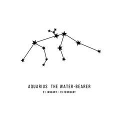 The aquarius constellation vector