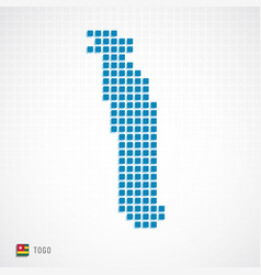 togo map and flag icon vector image