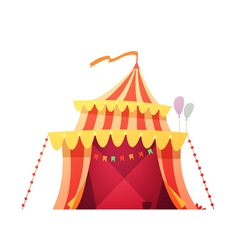 Traveling Circus Tent Retro Cartoon Icon vector