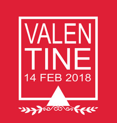 Valentine day flat 14 feb 2018 image vector