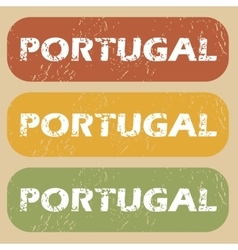 Vintage Portugal stamp set vector