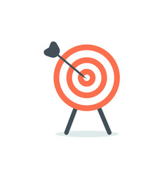 abstract target icon flat design vector image