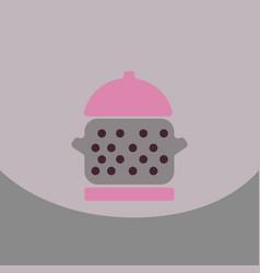 cartoon metal pan saucepan image kitchen vector image