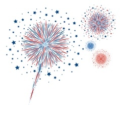 Fireworks design on white background vector image
