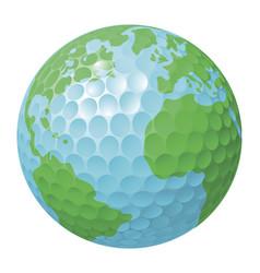 golf ball world globe concept vector image vector image