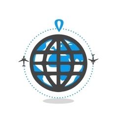 logo world travel vector image
