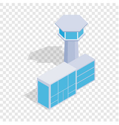 Airport building isometric icon vector