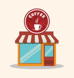 coffee shop store market restaurant vector image