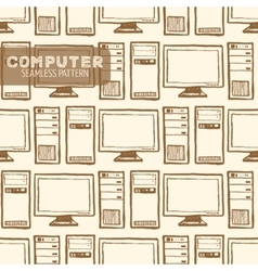 Computer seamless pattern vector image vector image