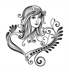 female scroll vector image vector image