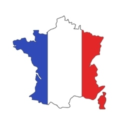 France euro championship 2016 flag design vector image