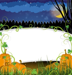 Halloween Pumpkins with sprouts vector image vector image