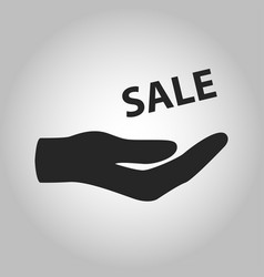 icon hand holding sale isolated vector image vector image
