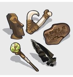 Magical elements idol ancient calendar vector image