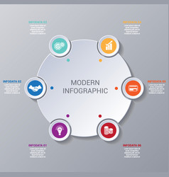 modern infographic numbered 6 options vector image