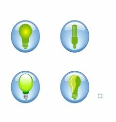 set eco electric bulb symbols icons vector image