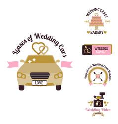 wedding photo or event agency logo badge vector image