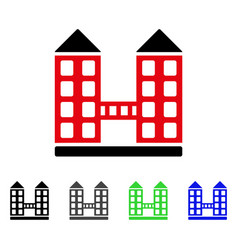 Company building flat icon vector