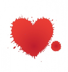heart stain vector image vector image