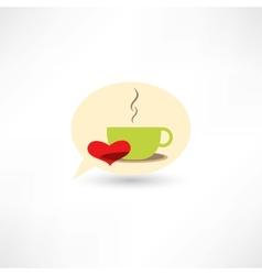 Love hot coffee vector image vector image