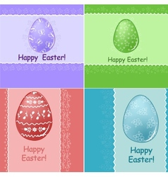 Set of Easter greetings card vector image vector image