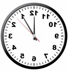 abstract clock vector image