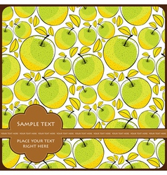 Card with apple vector image vector image