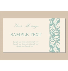 Floral vintage business card vector image vector image