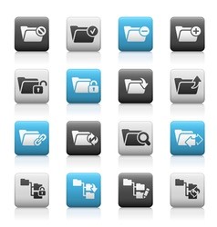 Folder Icons 1 Matte Series vector image vector image