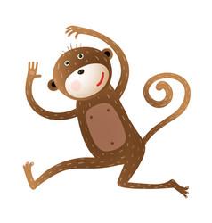 funny monkey animal cartoon vector image