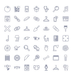 49 single icons vector