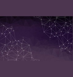 Abstract polygonal space purple background with vector